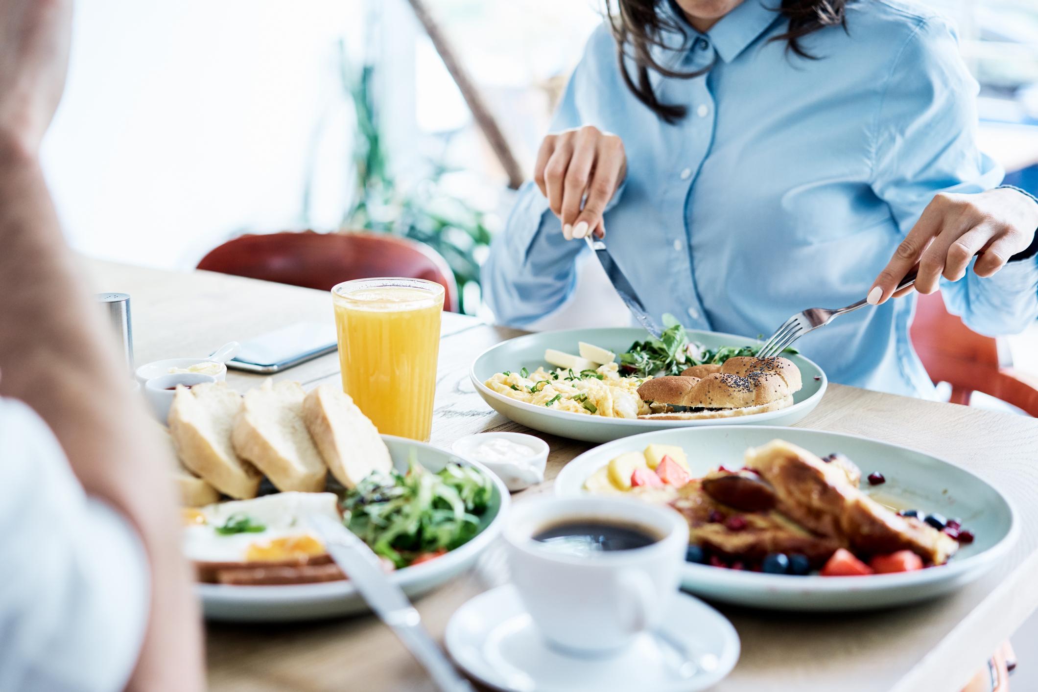 Frühstück Mittagessen Abendessen, um Gewicht zu verlieren