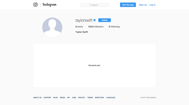 Taylor Swift löscht Instagram-Account