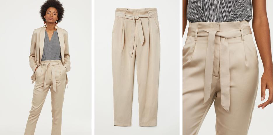 Outlet-Verkauf Großbritannien schnell verkaufend H&M: Diese Paperbag-Hose schummelt uns sofort eine schlanke ...