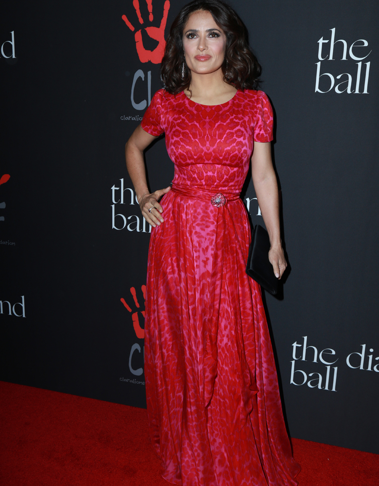 Look of the Day: Salma Hayek beim Diamond Ball 2014 | GRAZIA Deutschland